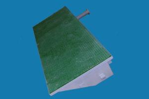 application caillebotis sur pièce plastique