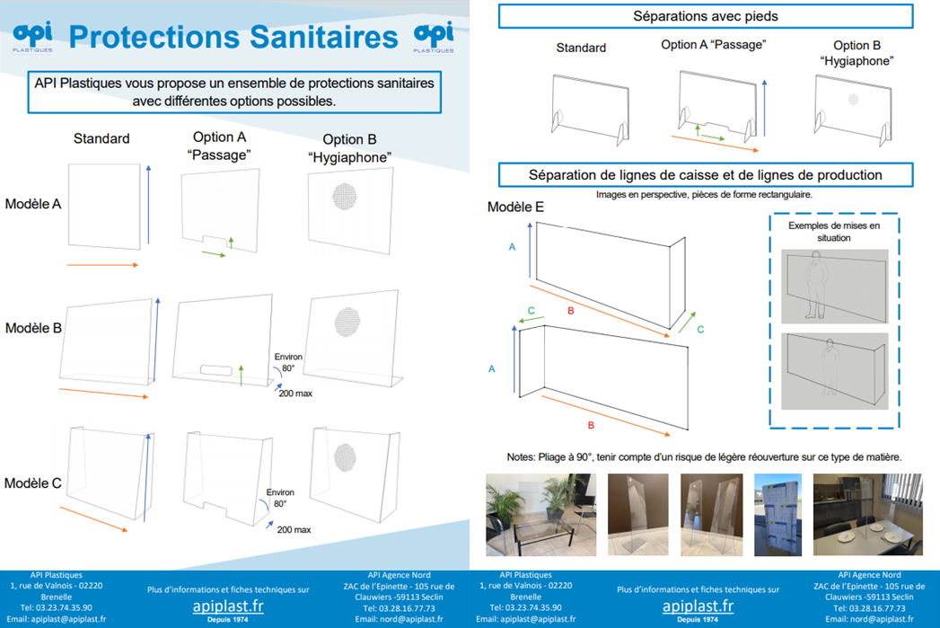 API - gamme protection sanitaire
