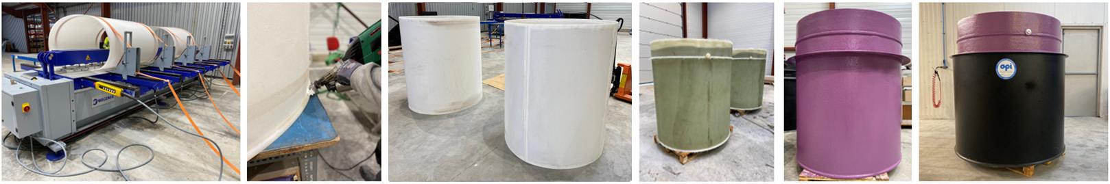 API - Suivi fabrication cuve cylindrique PVDF frettée double peau